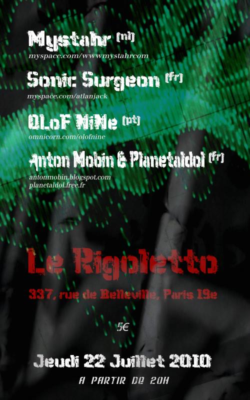Anton Mobin, OLoF NiNe, Sonic Surgeon, Mystahr